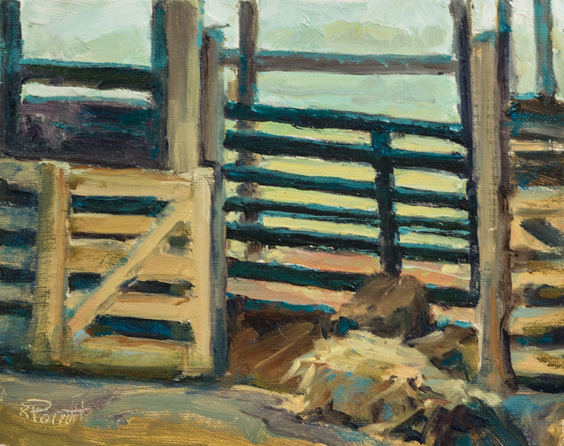 "Horse Stables   8""x10""  Oil   Plein Air"
