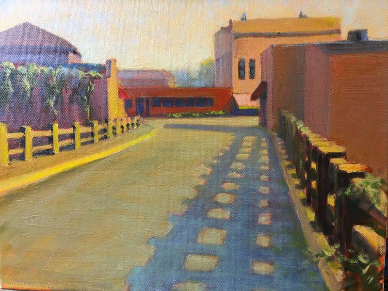 "Prattville Bridge             11""x14"" oil  Plein Air"