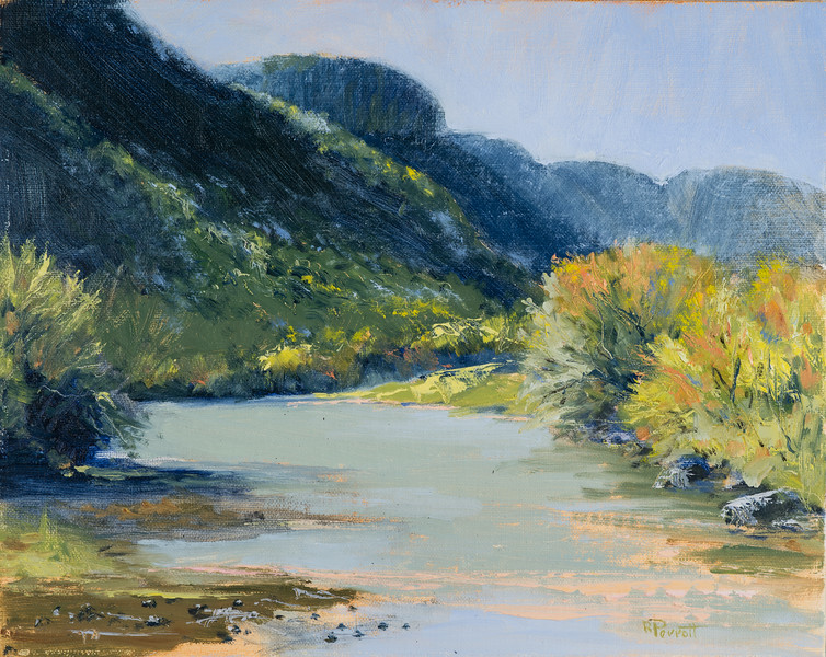 "River Bend.      8""x10"" Oil.   Plein Air"
