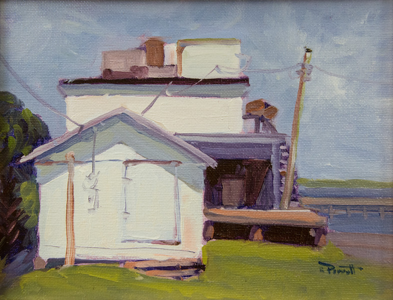 "Apalachicola Dockside        8""x10"" oil  Plein Air"