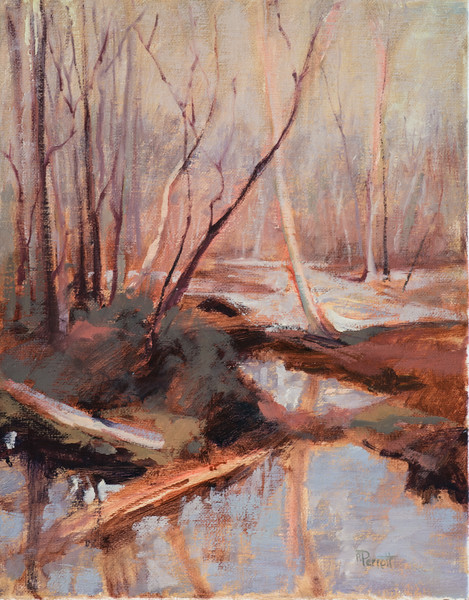 "Winter Bayou  Niceville, FL  11""x14""  Oil,  Plein Air"