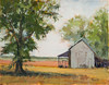 "Barn, Spring Planting   11""x14""   Oil,  Plein Air"