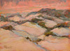 "Fiery Sunset Glow Dunes   6""x8""  Oil  Plein Air"