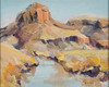"Autumn Mesa above the River           8""x10"" oil  Plein Air"