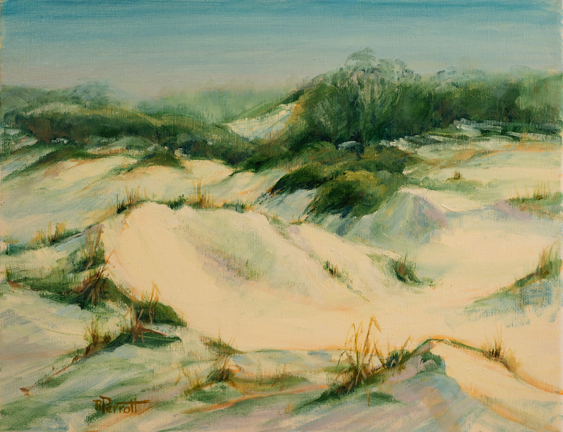 "Early Morning Dunes   11""x14""   Oil  Plein Air"