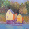 Fish Houses #4  12 x 12 Oil