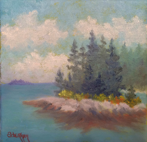 Another Island #4  6 x 6  Oil