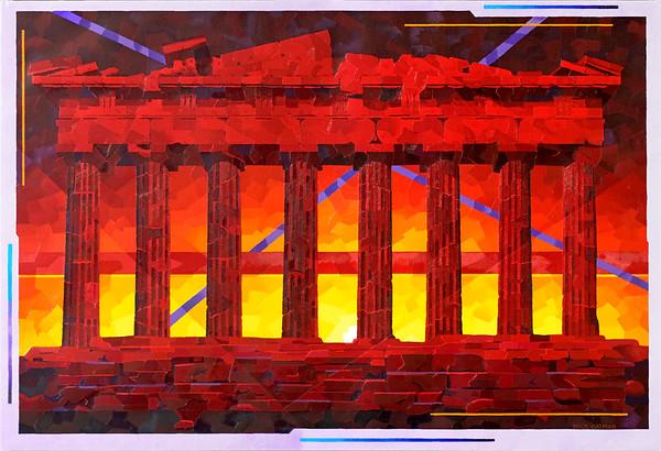 """""""Parthenon Ruins Sunset"""""""