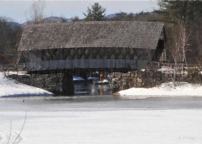 New Hampshire Covered Bridge 30 x 20