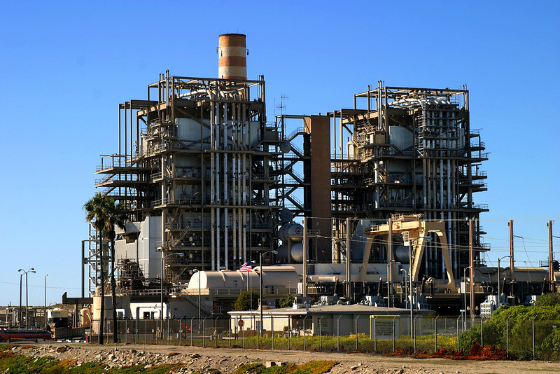 Natural gas power plant near Ventura California.