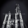 Cathedral Notre Dame of Senlis in B/W ...