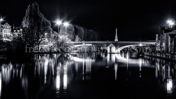 Solférino bridge at Compiègne II in B/W