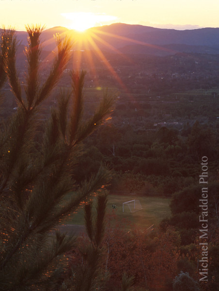 Sunset from Thacher School Ojai Valley  Color of Ojai