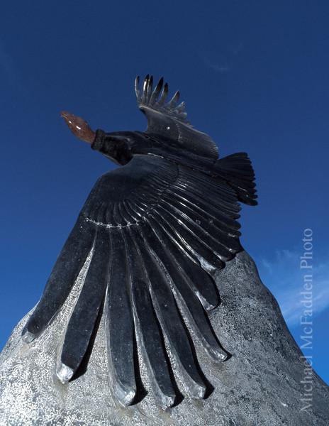 Condor sculture Ojai Valley  Museum Color of Ojai
