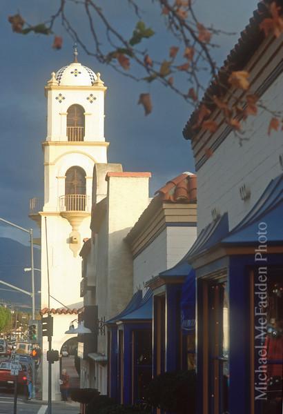 Post Office Tower from Ojai Avenue Ojai Valley  Color of Ojai