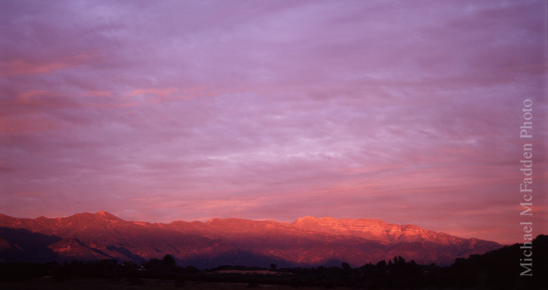 Pink Moment Ojai Valley  Color of Ojai   , Light & Spirit