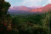 Sunrise Pink Moment from Meditation Mount Ojai Valley  Color of Ojai   , Light & Spirit