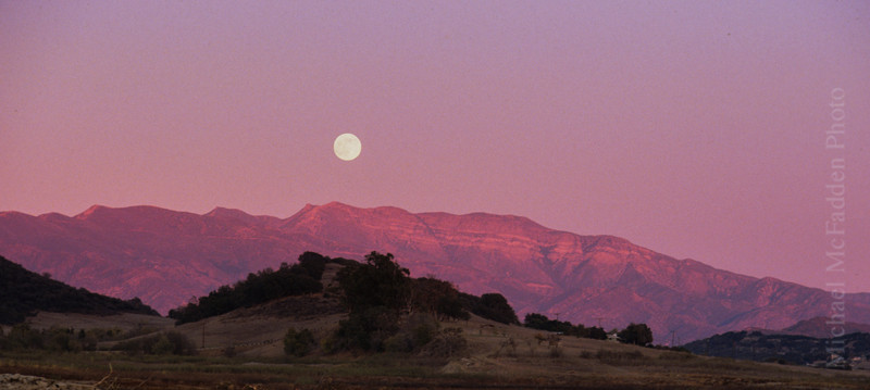 Pink Moment Moonrise