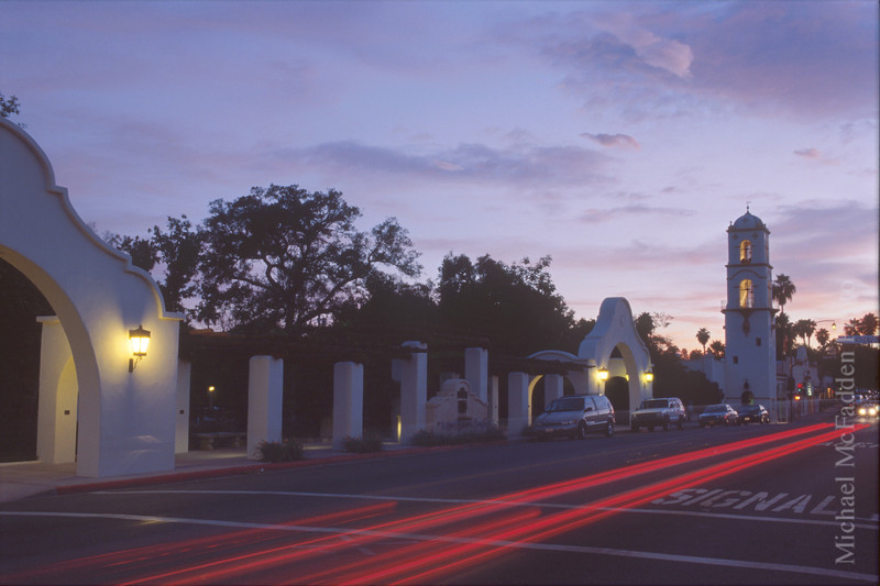 Pergola and Post Office Tower at Twilight Ojai Valley