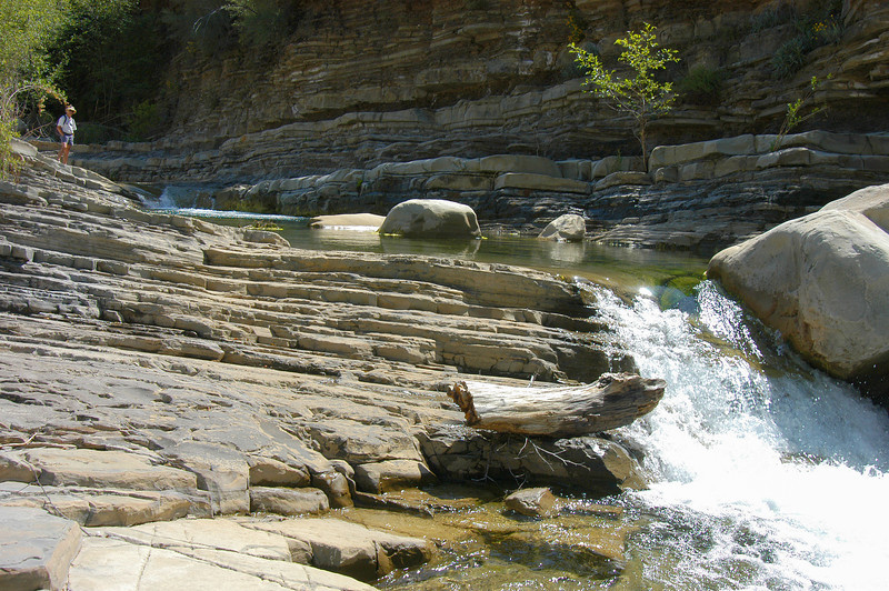 Matilija Canyon with rocks and Water, and Figure