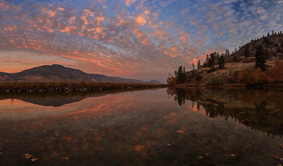 Skaha Pond Epic Sunrise Panoramic