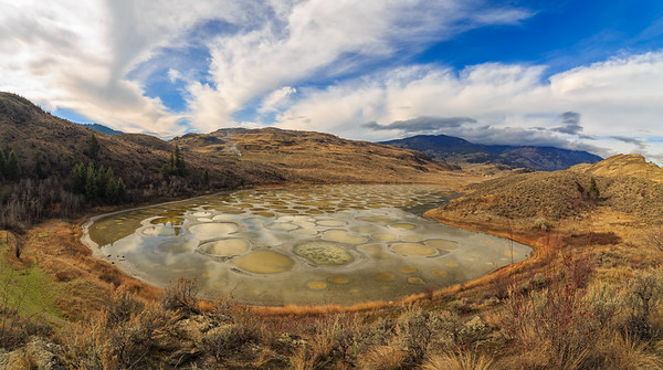 Spotted Lake Pano -Overlook