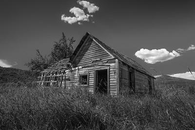 Mable Lake Abandoned Framhouse bw