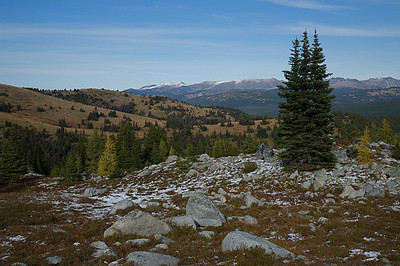 Just a dusting of snow has formed in the Pasayten uplands in mid-September