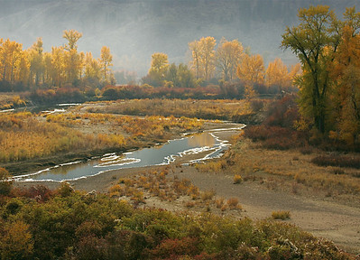 Fall colors peak along this portion of the Similkameen River north of Palmer Lake