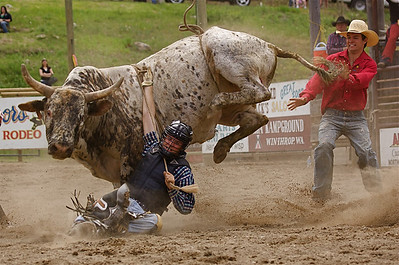 Dangerous action at the Winthrop Rodeo