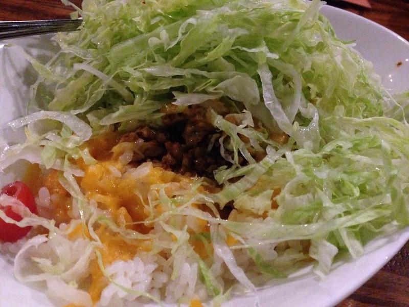 Taco rice Okinawa