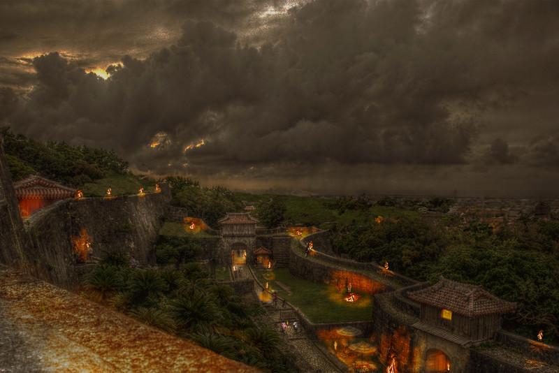 Old Shuri Castle Dusk