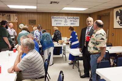 Britton Lodge #434 50 & 60 Year Pin Presentation - 3/30/2016
