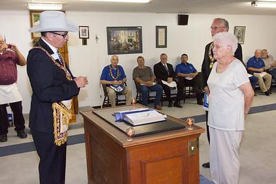 Canadian Lodge #22 Widows Pin Presentation - 8/24/2016