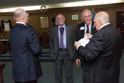 Coweta Lodge #251 Reception of Grand Lodge Officers & 50 - 60 Year Pin Presentation - 6/28/2016