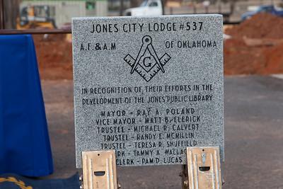 Jones Public Library Cornerstone Ceremony 12/9/15