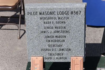 Joint Grand Lodge - Grand Chapter OES Cornerstone - Pilot Lodge #367 - 9/1/2018