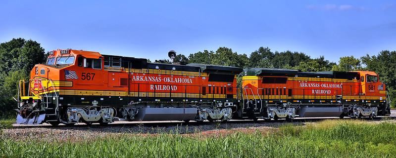 Arkansas - Oklahoma Railroad - Howe, Oklahoma