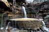 Natures Fountain - Waterfall at Heavener Ruinstone Park- Heavener, Oklahoma - Ouachitas March 2014