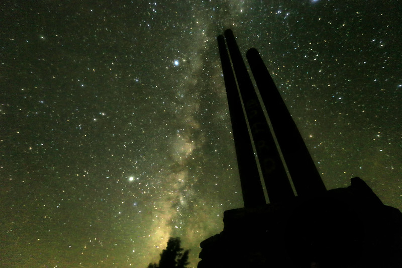 3 Sticks National Monument with Milky Way