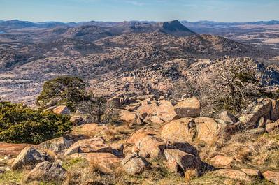 Shot from Mount Scott in Wichita Mountains of Oklahoma