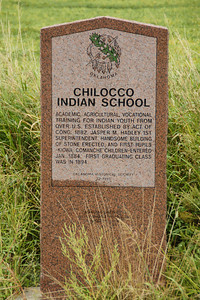 Monument to the Chilocco Indian School near the Kansas border. For more information see: http://digital.library.okstate.edu/encyclopedia/entries/C/CH042.html