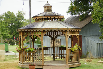 Gazeebo in city park