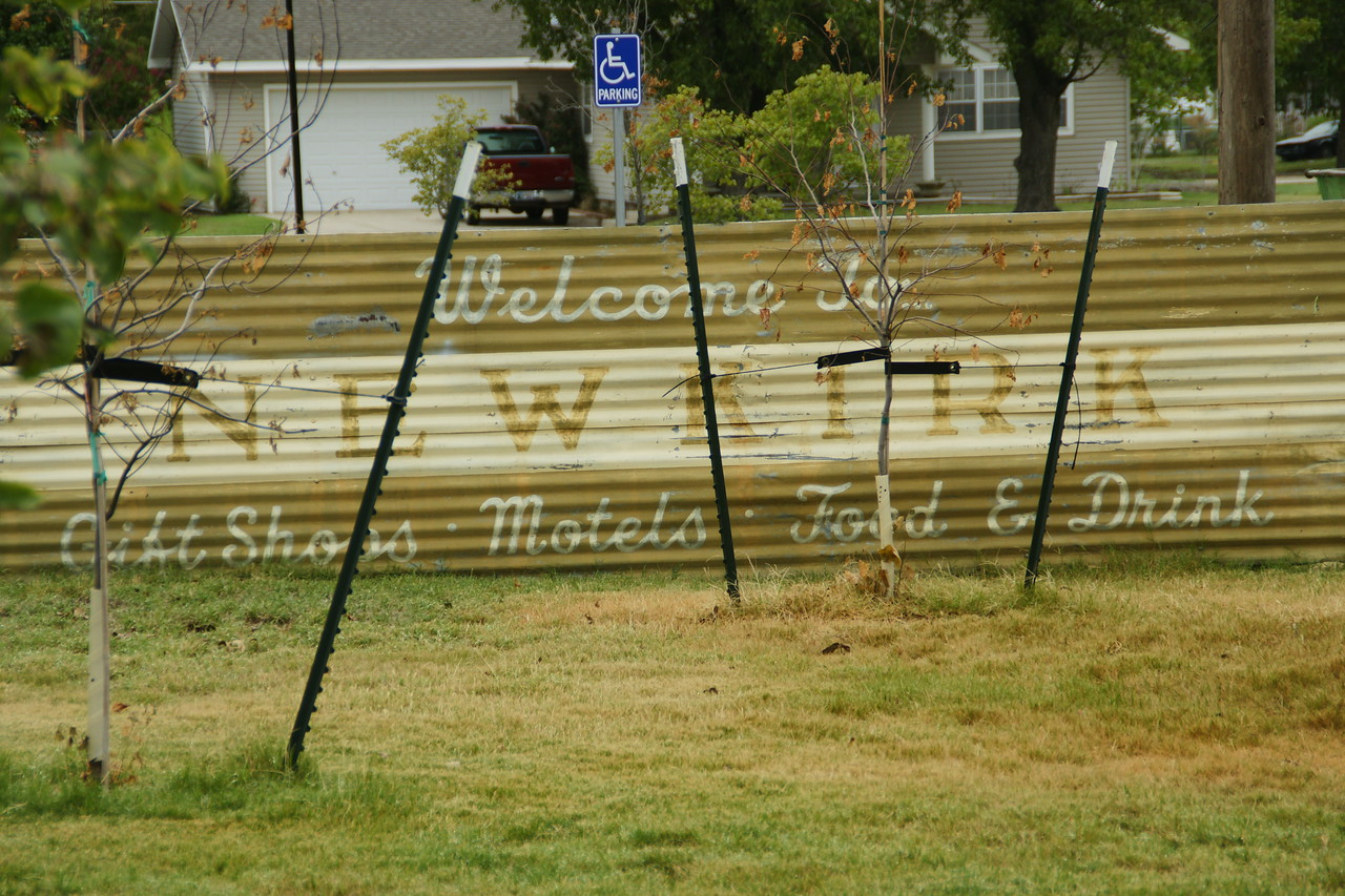 Former welcome sign  of Newkirk