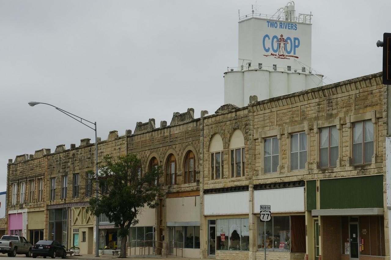 LImestone buildings along Main Street