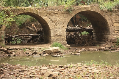Double stone arch bridge over Deer Creek west of Kaw Lake. This photo taken by Karen.