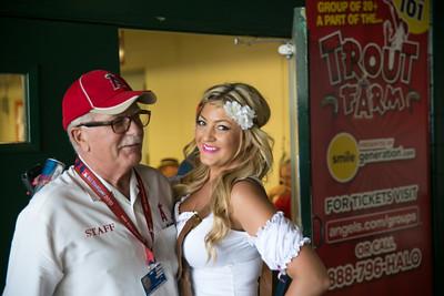 Shot Girls Visit Angels Stadium for Oktoberfest Party