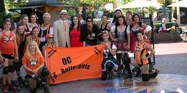 OC Rollergirls at Oktoberfest