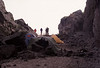 Our camp from 28 Jun-5 Jul 2004 expedition. The active vents were on the other side of the rock wall to the left and about 600 feet away. #ODL2004-19