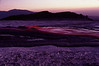 View of evening natrocarbonatite lava flows move across the crater of Ol Doinyo Lengai. July 2004 #ODL2004-3